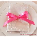 nœud de serviette de table rose Réf. 158