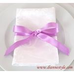 nœud de serviette de table violet Réf. 161
