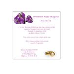 carte d'invitation anniversaire mariage Réf. 172