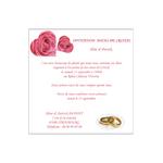 carte d'invitation anniversaire de mariage Réf. 175