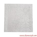 Serviette damassée blanche 30x30 cm