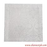 Serviette damassée blanche 40x40 cm