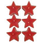 Bougies rouges étoiles Réf 190 A