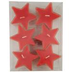 Bougies rouges étoiles Réf 190 B
