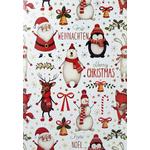 Carte de menu Noël Réf 194 AMerry Christmas Ours A