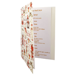 Carte de menu Noël Réf 194 B