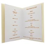 Carte de menu nouvel an saint sylvestre 196 C