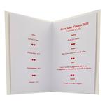 Carte de menu Réf 201 B
