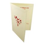 Carte de menu Saint-Valentin Réf 202 C