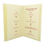 Carte de menu Saint-Valentin Réf 202 B