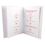 carte de menu Saint-Valentin 205 B