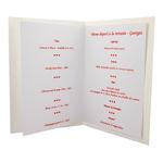 Carte de menu Réf 206 B
