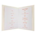 carte de menu pâques Réf 228 B