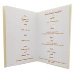 Carte de menu nouvel an Réf. 195 a
