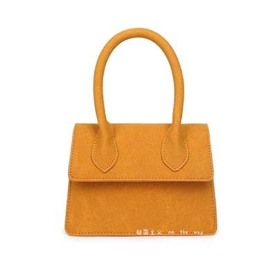 Mini petit sac carré en cuir
