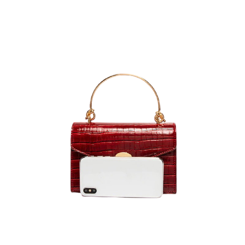 Mini sac à bandoulière avec poignée en métal dame voyage sacs à main fourre-tout