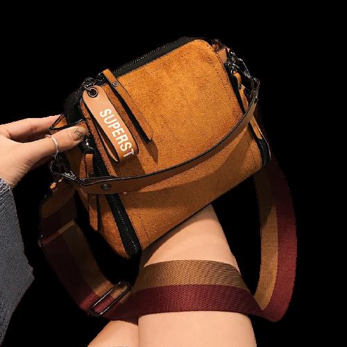Sac épaule Vintage avec bandoulière - Sac à main femme fourre-tout en cuir
