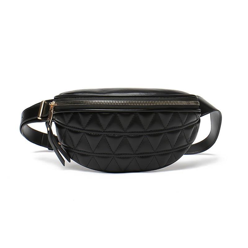 Sacoche en simili cuir pour femme, petit sac à porter à la taille ou sur la poitrine, parfait pour le téléphone