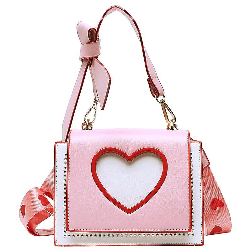 Sac à main pour femme avec un design en forme de cœur