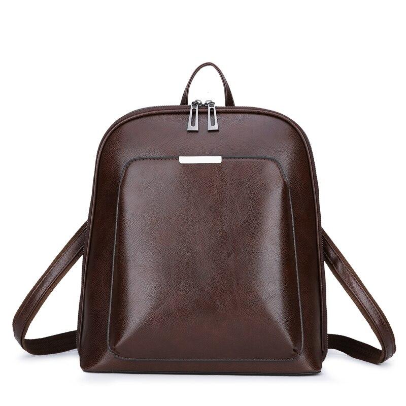 Sac à dos en cuir PU pour femme, décontracté, grande capacité, Vintage, sacs à dos