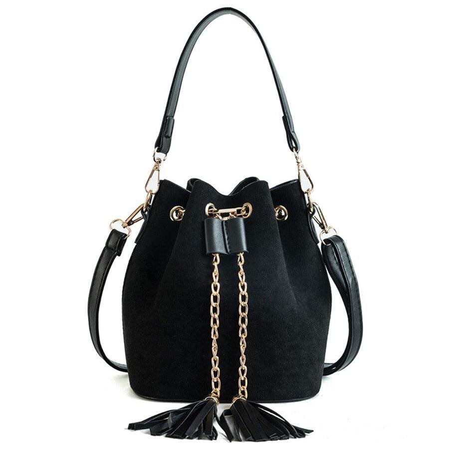 Mini sacs à main en daim pour femme, sac à bandoulière à pompon en cuir PU