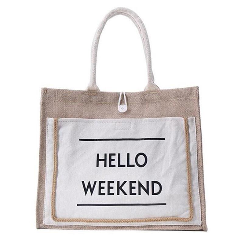 Sacs à main en lin et coton pour femmes, fourre-tout Style européen, grande capacité, utilisation quotidienne, Shopping, sac à bandoulière