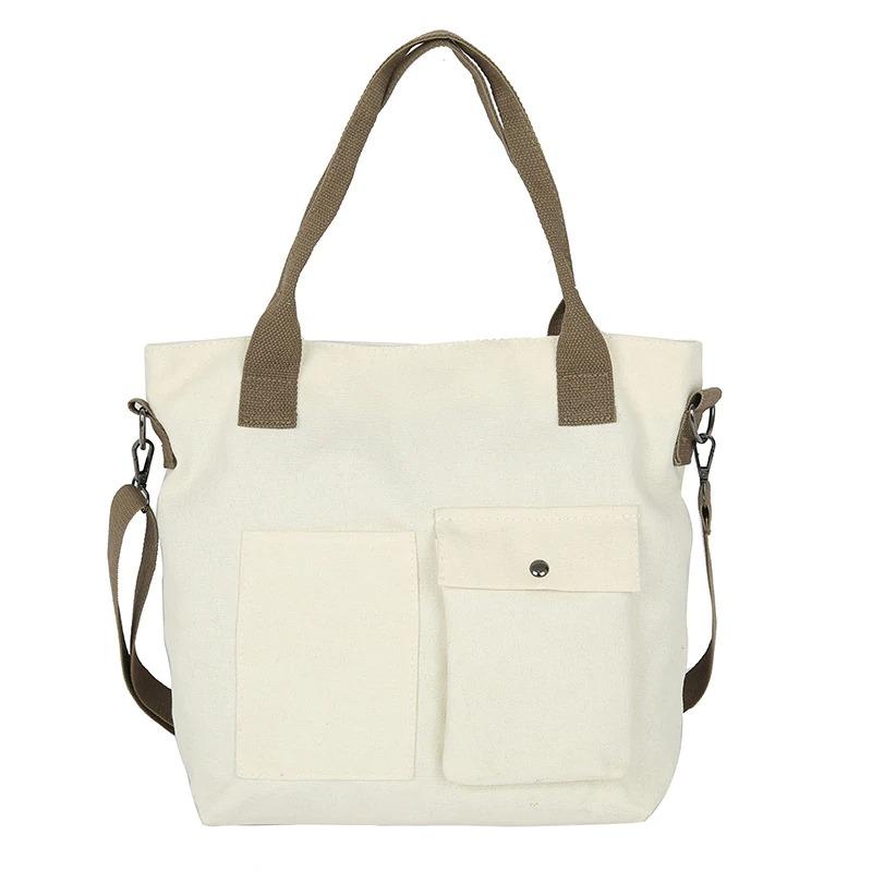 Sac à main en toile pour femmes, sac à bandoulière de grande capacité, décontracté