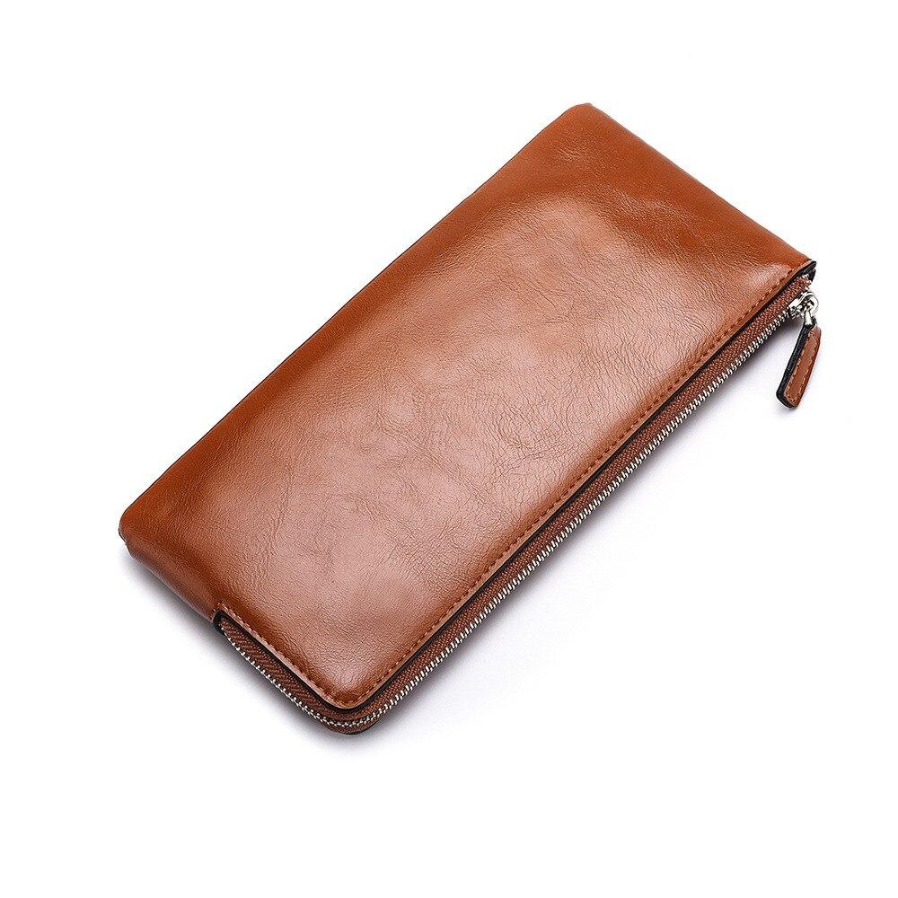 Portefeuille homme porte-carte en cuir - Portefeuille longue conception qualité passeport
