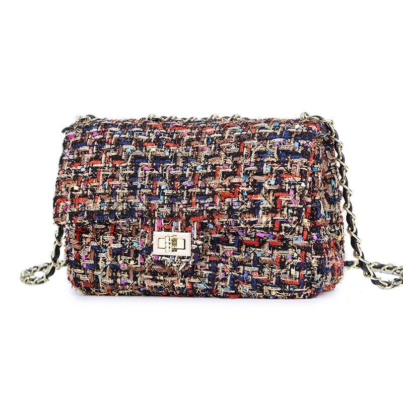 Sac à bandoulière en laine pour femme - Petit sac matelassé, nouvelle collection