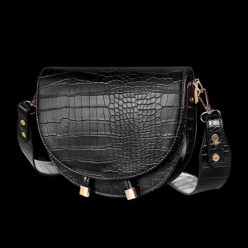 Sac à bandoulière avec motif crocodile - Sac à main femme en cuir synthétique