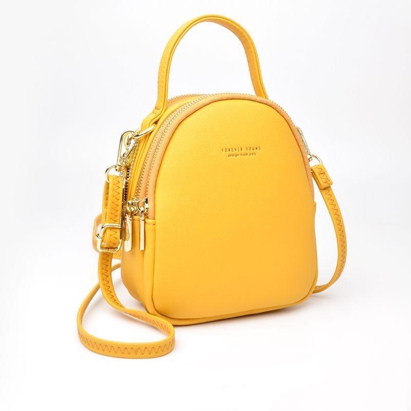 Mini sac à dos en cuir PU doux au toucher - Petit sac à dos multi-fonction femme