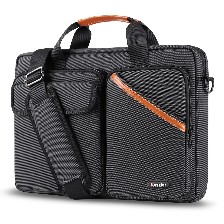 Sac multi-poche pour ordinateur portable - Porte-documents grande capacité avec bandoulière