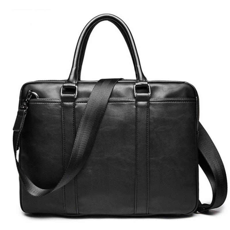 Porte-documents pour homme en cuir de luxe - Pochette d\'ordinateur homme à bandoulière