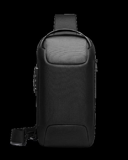 Sac de poitrine Anti-vol pour hommes - Sac à bandoulière étanche avec chargeur USB pour voyage