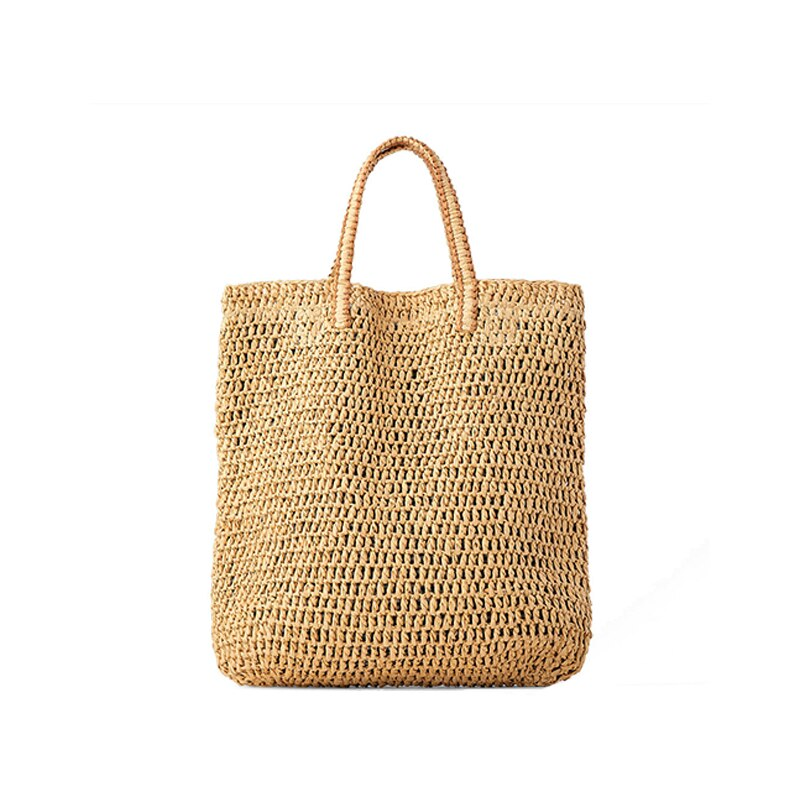 Sac à main tissé en rotin pour femmes, sacs à bandoulière en paille, sac de plage d\'été grande capacité