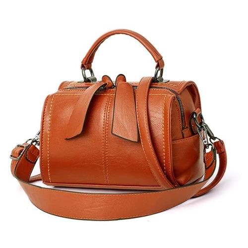 Sac à main en cuir PU pour femme, sac à bandoulière fourre-tout et tendance