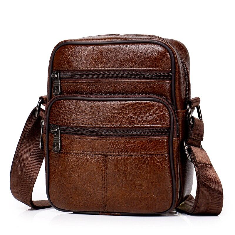 Sac à bandoulière en cuir véritable pour hommes, sacoche à rabat Fashion pour voyage
