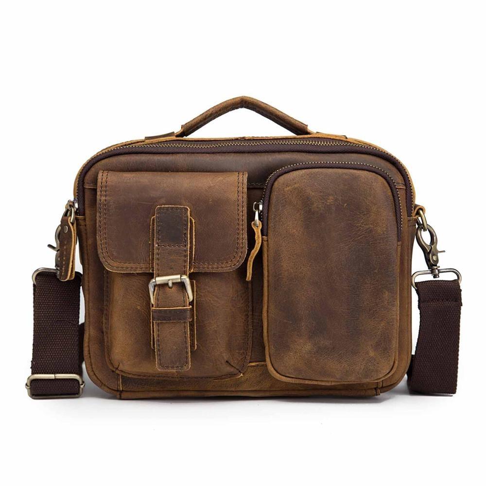 Sacoche en cuir pour homme, sac à bandoulière pour Pad de 9 pouces