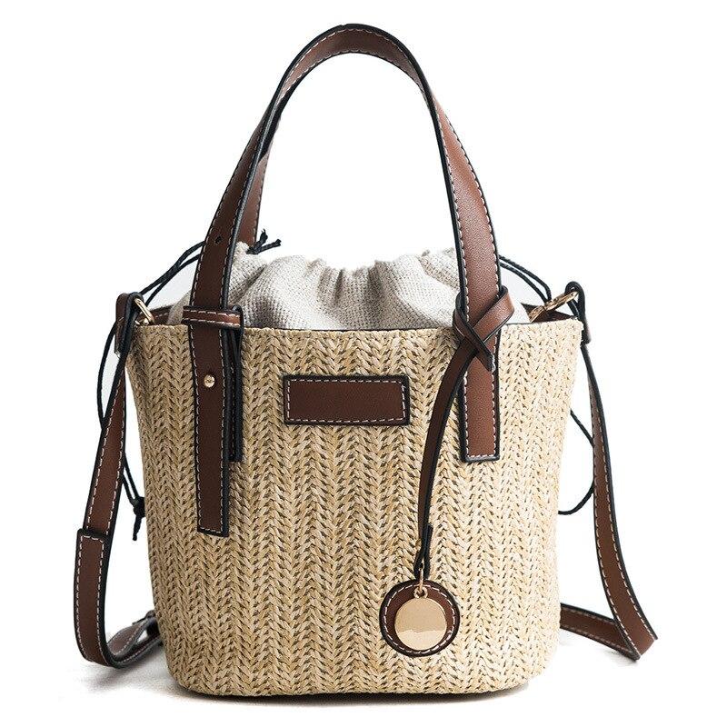 Sacs à main en rotin pour femmes - Sac fait-main bohème avec grand sac à bandoulière