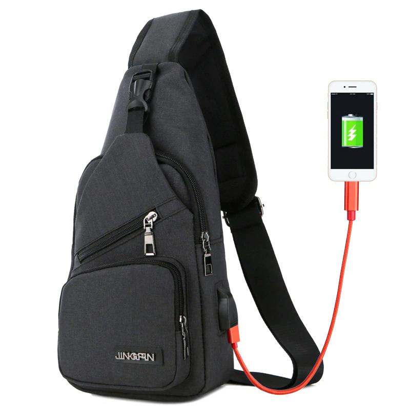 Sacs à bandoulière avec chargeur USB charge