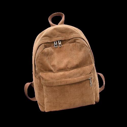 Petit sac à dos rayé en velours
