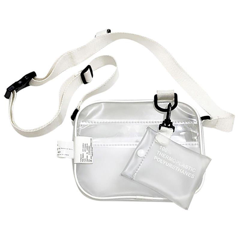 Sac PVC Transparent clair avec porte-carte larges bretelles