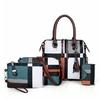 Pochette-pour-femmes-sacs-main-carreaux-de-luxe-de-styliste-pompon-ensemble-de-4-pi-ces
