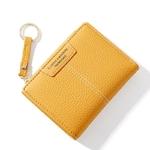 Marque-jaune-femmes-portefeuille-souple-en-cuir-PU-femme-sac-main-Mini-moraillon-porte-carte-pi
