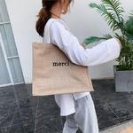 Sacs-main-en-lin-pour-femmes-d-contract-lettre-marque-de-styliste-grande-capacit-Shopping-plage