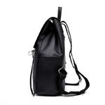 Femmes-Sac-Dos-sacs-d-cole-pour-adolescent-filles-Nylon-fermeture-clair-Design-noir-Femme-Mochila