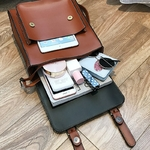 Sac-dos-Vintage-en-cuir-noir-pour-femmes-sacoche-de-bonne-qualit-paule-de-marque