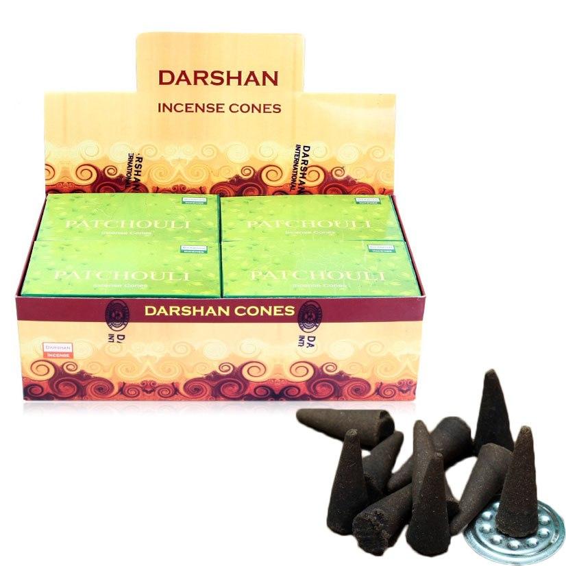 Cônes D'encens au patchouli d'Inde fait main.7
