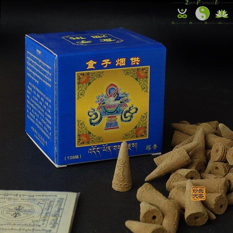 Cones encens tibetains naturelle boite bleu_02_1