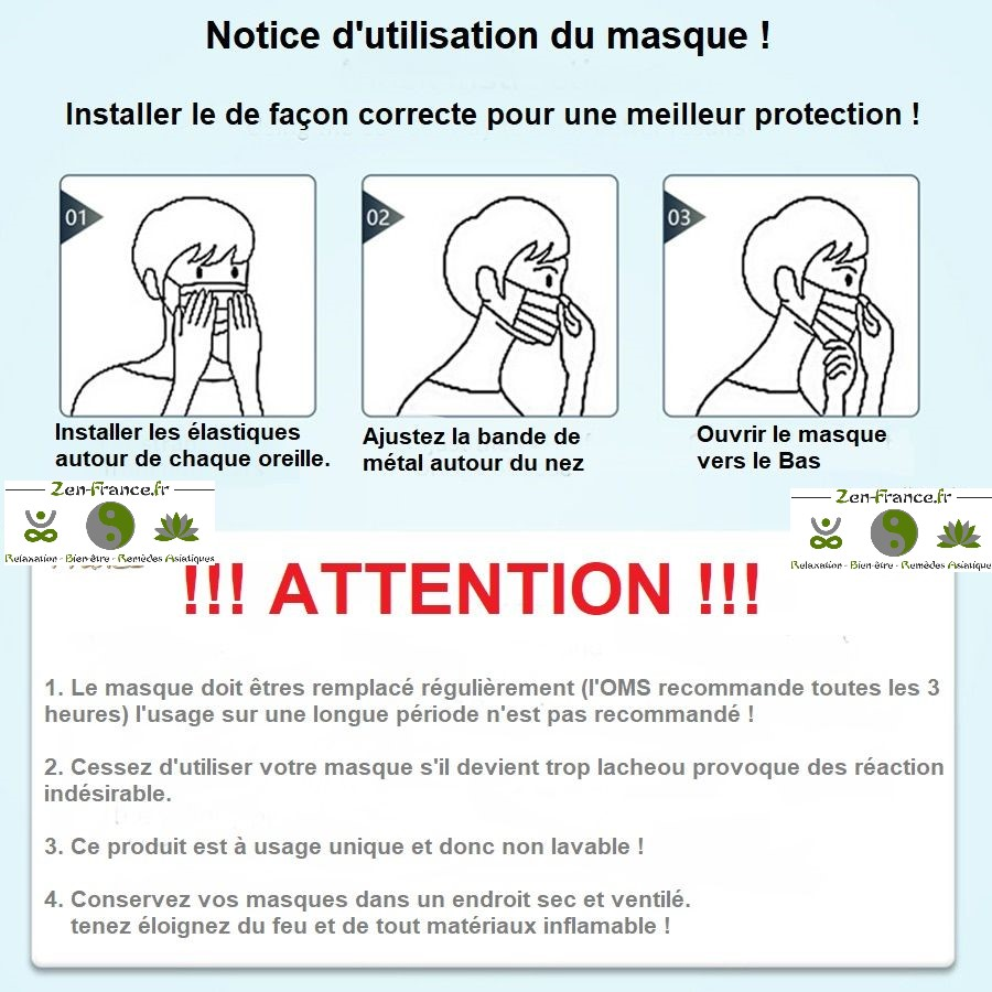 masque chirurgical antiprojection notice d'utilisation